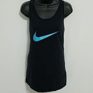 Nike racer back black slim fit tank